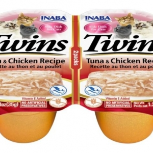 Inaba Twins Grain-Free Tuna & Chicken Cat Treat/Topper -6x70g